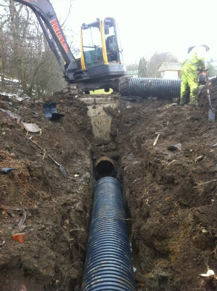 Twin Wall pipe installation